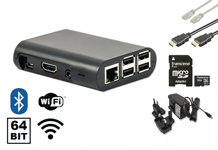 Raspberry Pi 3 starter kit + WiFi + NOOBS software tool