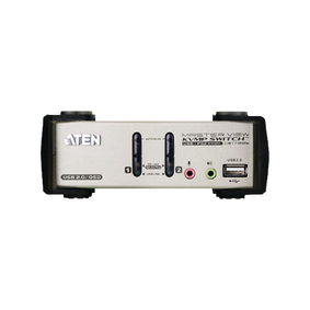 Aten 2Port USB/PS/2/VGA KVM switch with audio