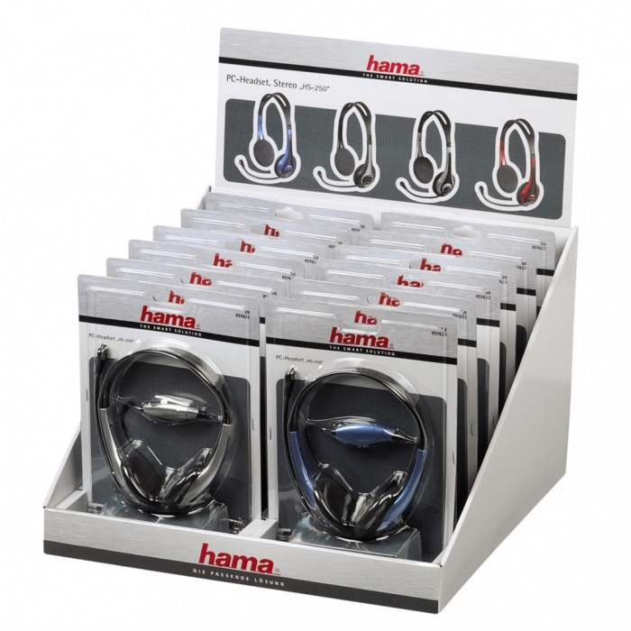 Hama HS-250 PC Headset, displej box 12 ks