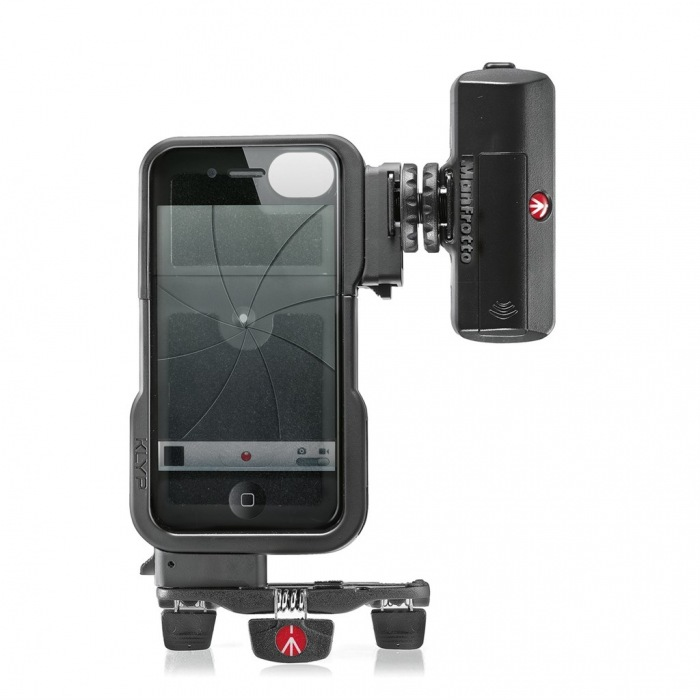 Manfrotto KLYP iPhone case + ML120 + POCKET, stativový obal na iPhone 4/4S + LED světlo 120 + stativ