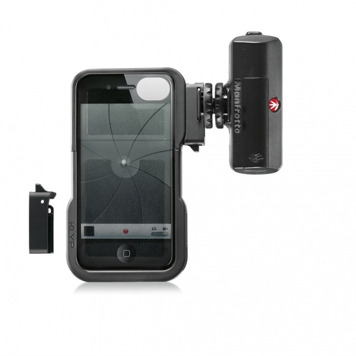 Manfrotto KLYP iPhone case + ML120, stativový obal na iPhone 4/4S + LED světlo 120