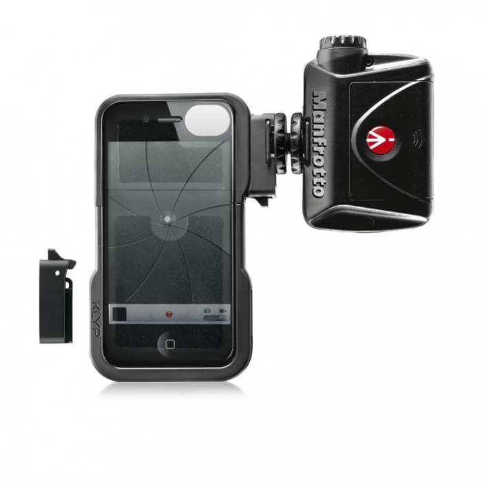 Manfrotto KLYP iPhone case + ML240, stativový obal na iPhone 4/4S + LED světlo 240