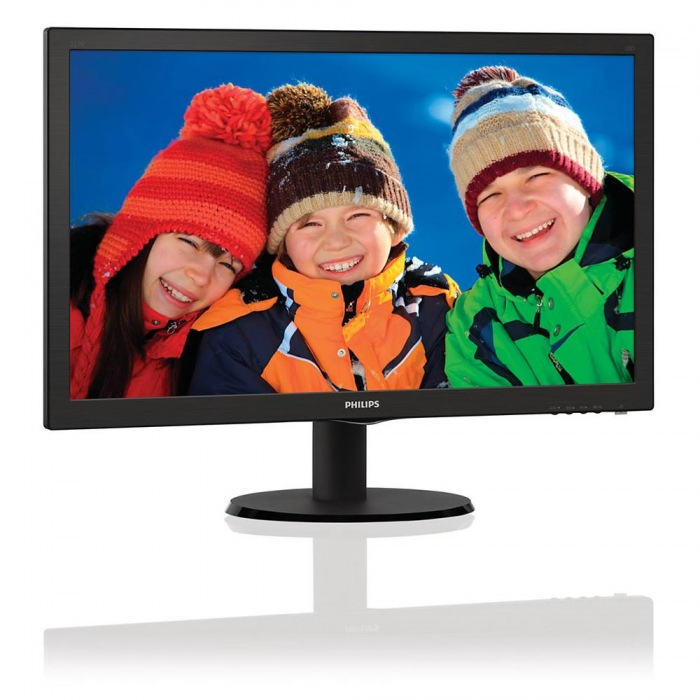 "PHILIPS 21,5"" LED 2223V5LSB2/ 16:9 1920x1080/ 10.000.000:1/ 5ms/ D-SUB/ černý"