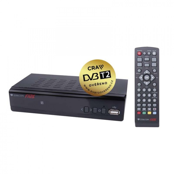 Set top box ZIRCON FIRE HEVC H265 (DVB-T2 přijímač)