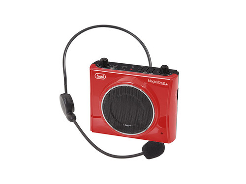 Trevi K 755USB/RED Přenosný zeslilovač hlasu MAGIC VOICE, FM,MP3