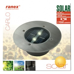 LED solar groundspot square