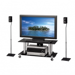 Speaker Stand Style with square base, black