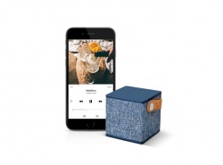 FRESH ´N REBEL Rockbox Cube Fabriq Edition Bluetooth reproduktor, indigově modrý