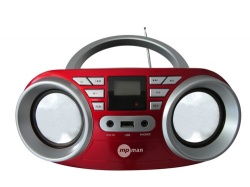 MP man BOOMBOX 64USB/RED Radiopřij.s CDpřehráv.