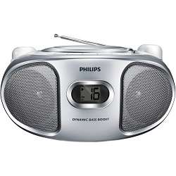 PHILIPS AZ105S/12  PŘENOSNÉ RÁDIO S CD