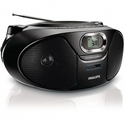 PHILIPS AZ385/12   PŘENOSNÉ RÁDIO S CD