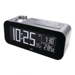Radio controlled alarm clock with projection