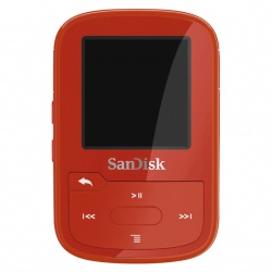 SanDisk MP3 Sansa Clip Sport Plus 16 GB červená