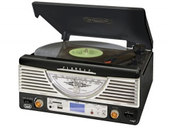 Trevi TT 1062/BK Retro music system,MP3/SD/USB