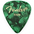 FENDER 098-0351-771 Picks Green Moto, Thin