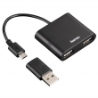 Hama USB 2.0 OTG Hub 1:2 pro smartphone/tablet/notebook/PC