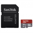 SanDisk Ultra microSDHC 16 GB 98 MB/s A1 Class 10 UHS-I, Android, Adaptér NÁHRADA ZA 139726
