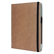 Tablet case pu leather for new iPad brown