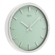 Wall Clock 30 cm Analogue Silver / Green